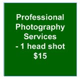 Professional Photography Services - one headshot