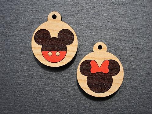 Minimalist Mickey Minnie Themed Pet Tags