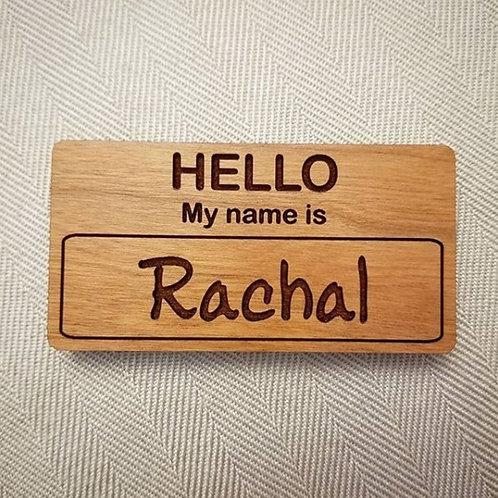 Custom Wooden Name Tag