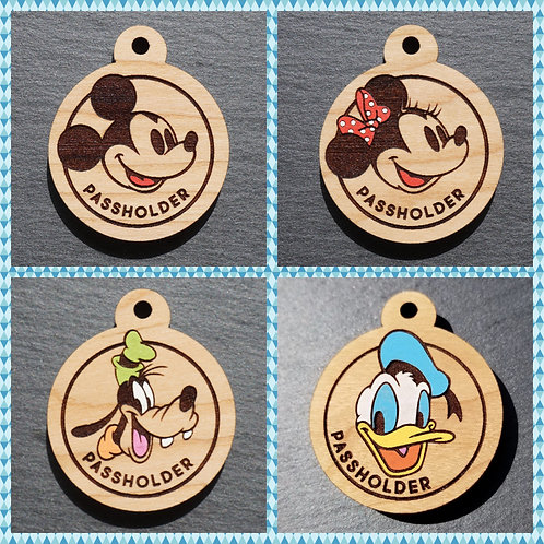 Passholder Themed Pet Tags