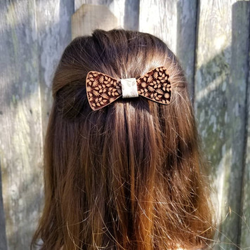 Wooden Hair Bow
