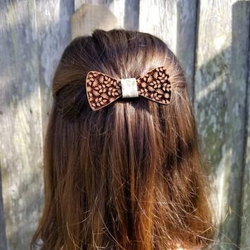 Wooden Hair Bow
