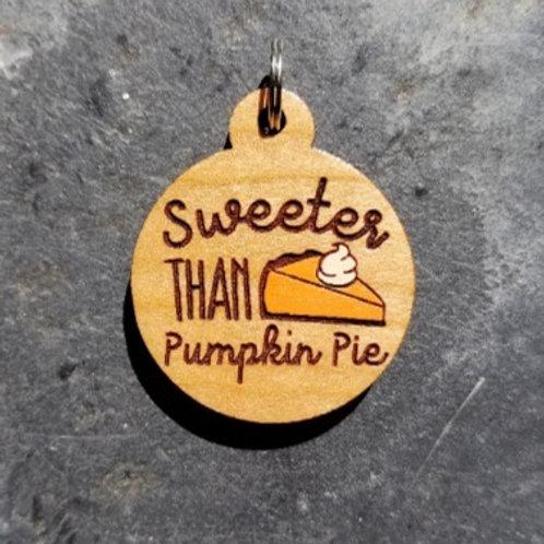 Sweeter Than Pumpkin Pie Pet Tag