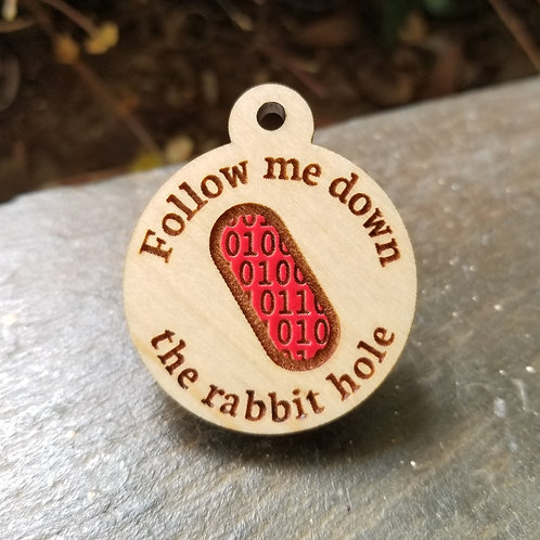 Red Pilled Pet Tag