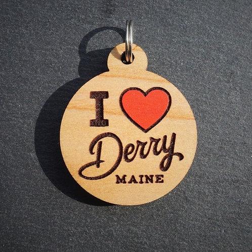 I Heart Derry Pet Tag