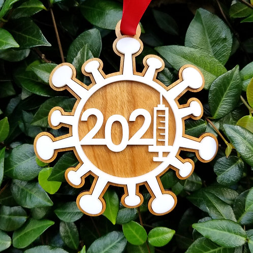 2021 Wooden Christmas Ornament