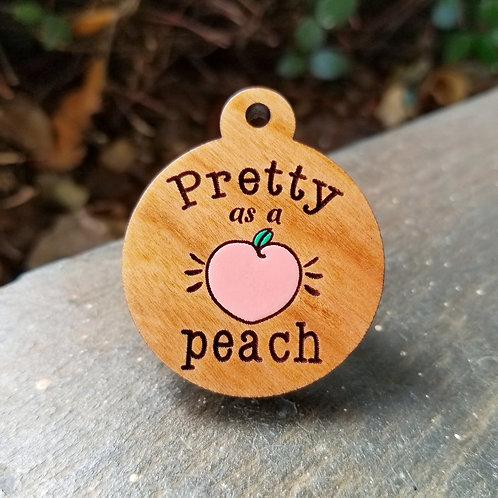 Pretty as a Peach Pet Tag