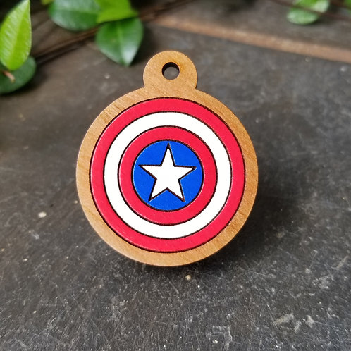 Captain America Themed Pet Tag