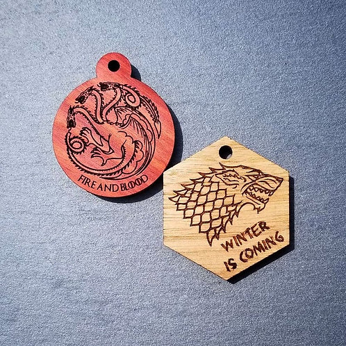 Game of Thrones Themed Pet Tags