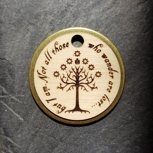 Lord of the Rings Themed Brass Pet Tags