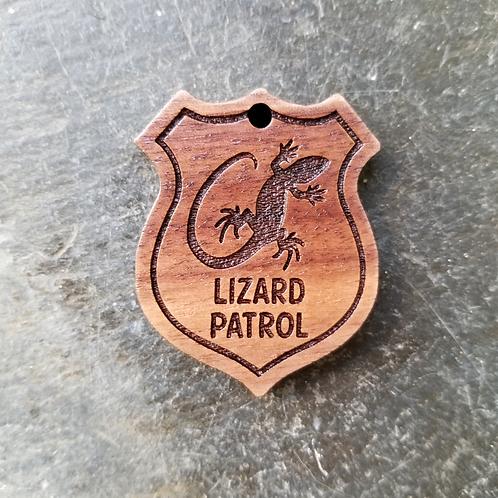 Lizard Patrol Pet Tag