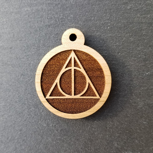 Deathly Hallows Themed Pet Tag
