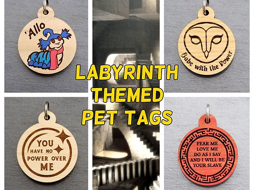 Labyrinth Themed Pet Tags
