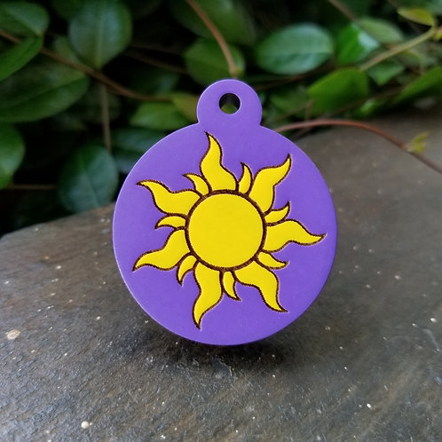 Tangled Themed Pet Tag