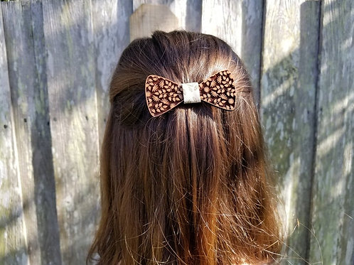 Lots of Leaves Wooden Hair Clip