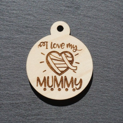 I Love My Mummy Pet Tag