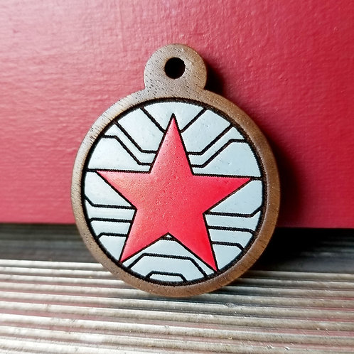 The Winter Soldier Themed Pet Tag