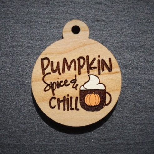 Pumpkin Spice and Chill Pet Tag