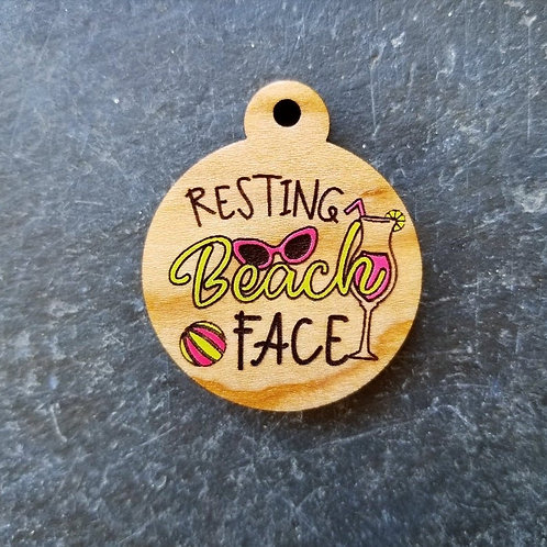 Resting Beach Face Pet Tag