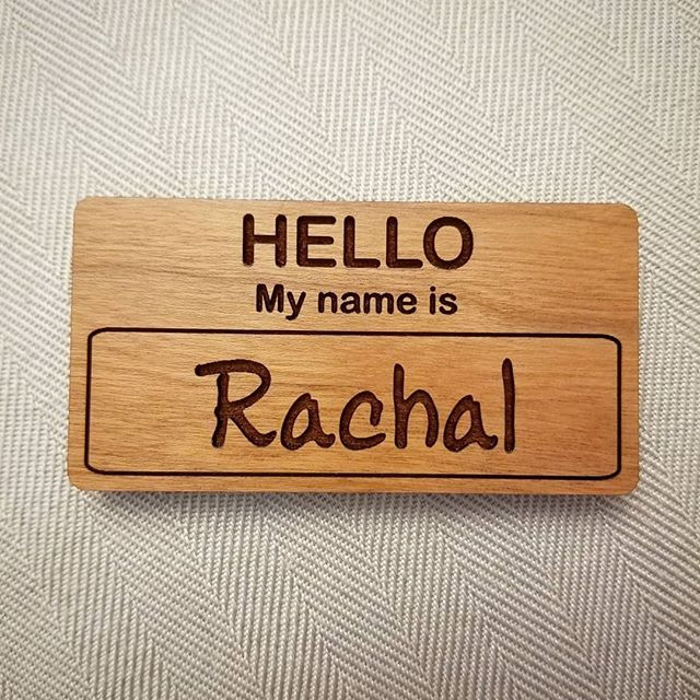 Custom Wooden Name Tags