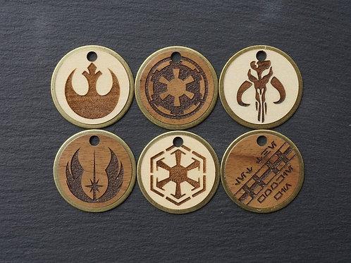 Star Wars Themed Brass Pet Tags
