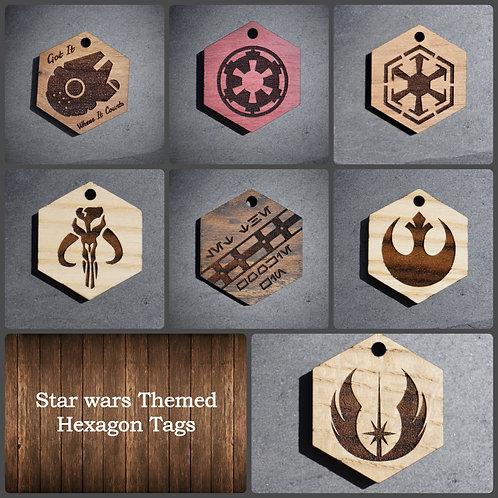 Star Wars Themed Hexagon Pet Tags