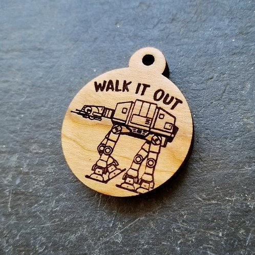 Walk It Out AT-AT Themed Pet Tag