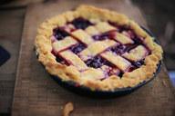 A homemade blueberry pie