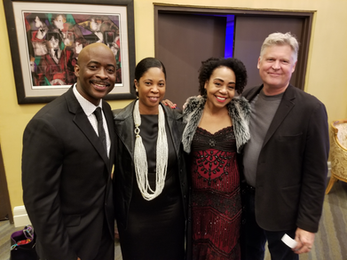 Stephan Terry, Monica Terry, Karole Foreman, Peter Foreman opening night of Billie Holiday show