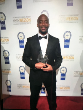 Stephan Terry receives Best Music Director Award 2016 NAACP Theatre Awards