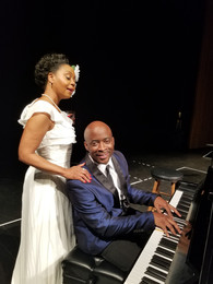 Stephan and Karole Foreman as Jimmy Powers and Billie Holiday
