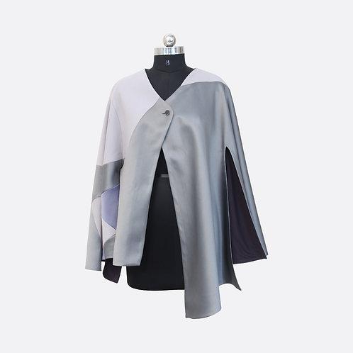 Grey Monotone Oversized Cape