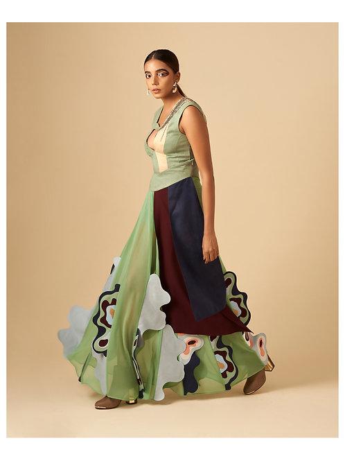 Folded Waves Skirt
