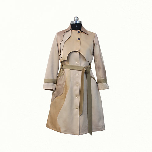 Beige Monotone Trench Coat