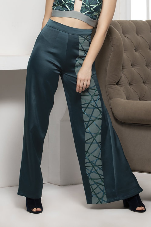 Green Monotone Trouser