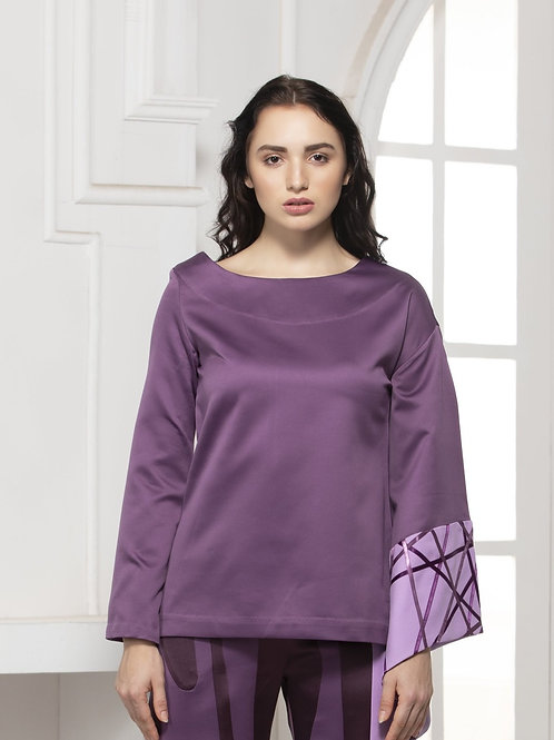 Move Monotone Bell Sleeve Top