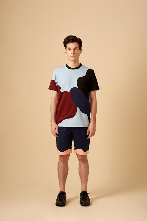 Variegated Colour Block Play T-Shirt
