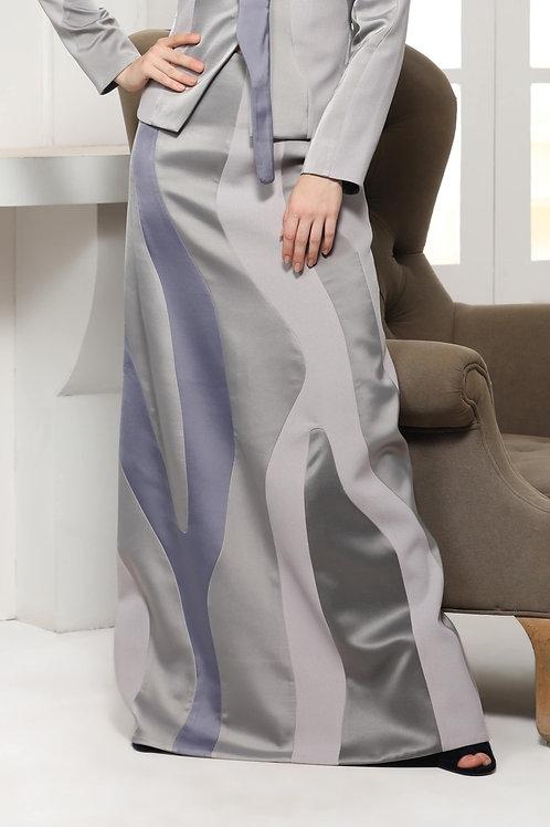 Grey Monotone Abstract Skirt