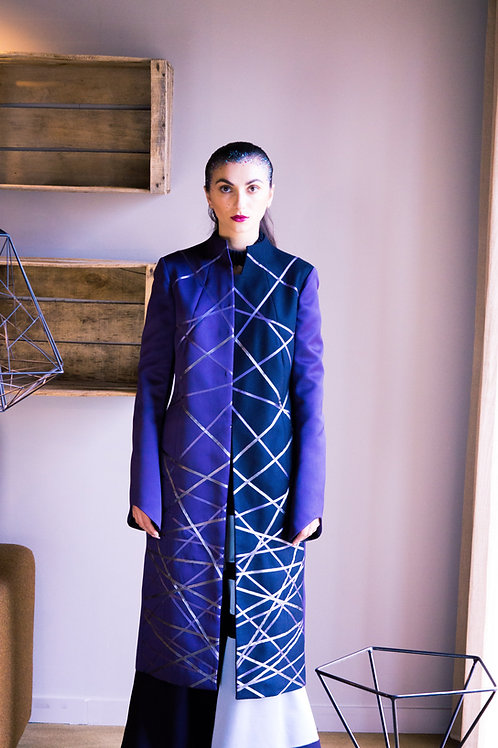 SA Grad Blue Monotone Long Coat