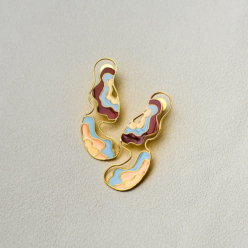 Metal Infinite Frequency Earring - Gold