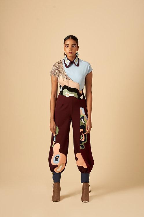 Urbane Palette Jumpsuit with Belt