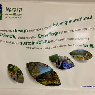 Poster at Narara Eco Village