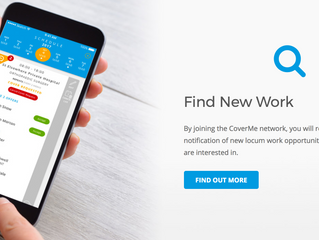 CoverMe Medical - World's first 'professional specific' connected opportunity platform