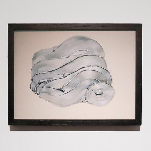 Silver Oil Paint Study (Brushstroke)