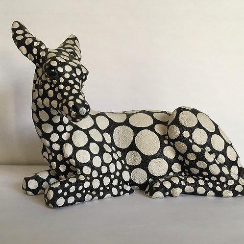 ALANA DEE HAYNES: Black & White Deer
