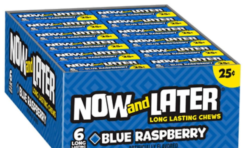 Blue Raspberry Now and Laters