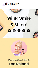 वीडियो website templates – Beauty Vlog