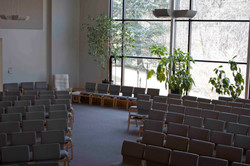 Sanctuary view from the front