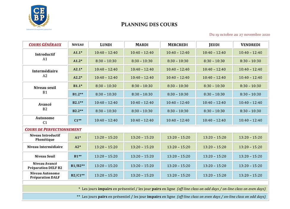 (CEBP) Planning Octobre-Novembre 2020 (w