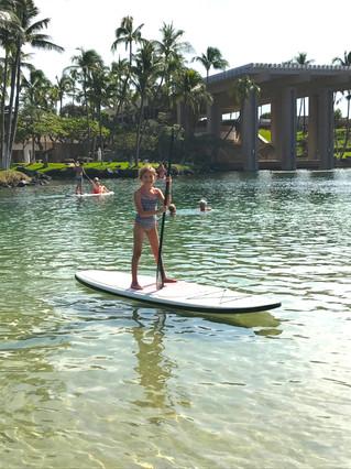 Paddleboarding in Kona.